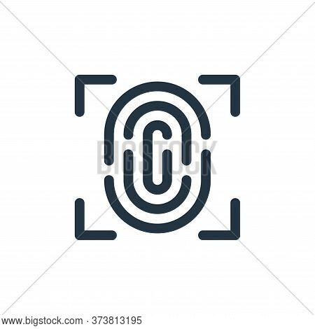 fingerprint scan icon isolated on white background from internet of things collection. fingerprint s