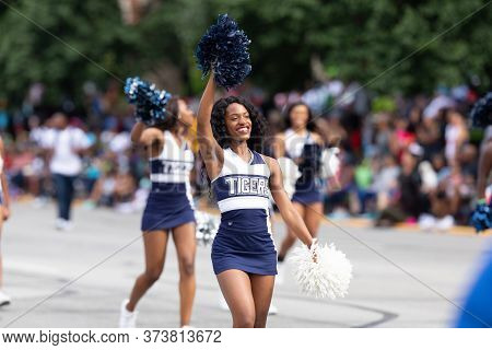 Indianapolis, Indiana, Usa - September 28, 2019: The Circle City Classic Parade, Members Of The Jack