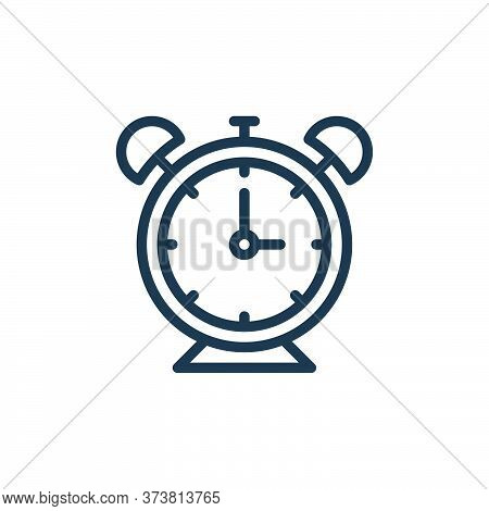 alarm clock icon isolated on white background from school collection. alarm clock icon trendy and mo