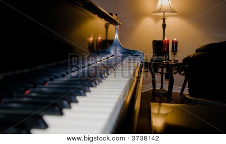 Grand Piano By Candlelight