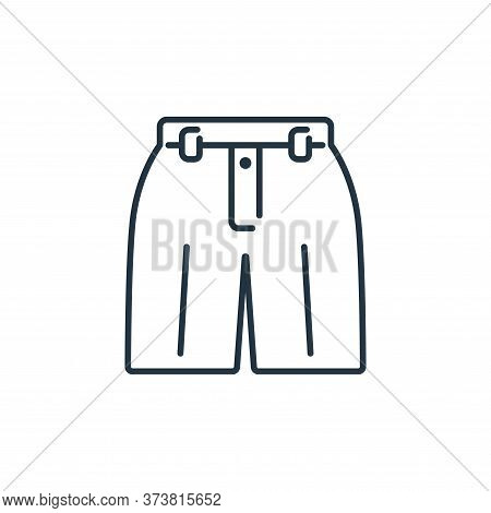 shorts icon isolated on white background from clothes and outfit collection. shorts icon trendy and