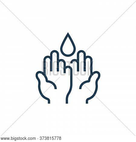 hand washing icon isolated on white background from pandemic novel virus collection. hand washing ic