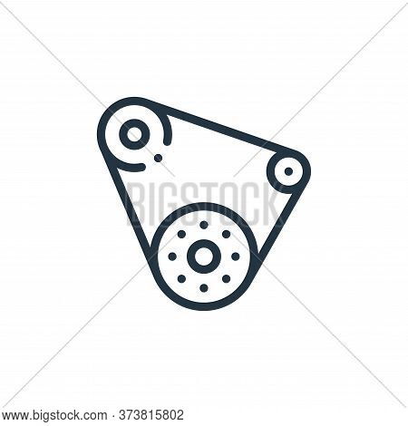 conveyor belt icon isolated on white background from autoracing collection. conveyor belt icon trend