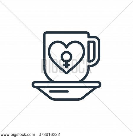 coffee icon isolated on white background from womens day collection. coffee icon trendy and modern c