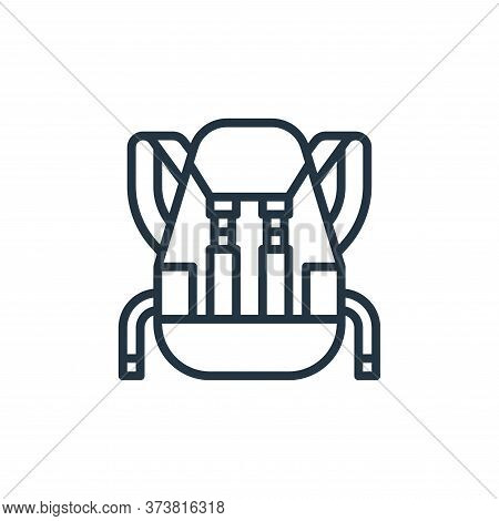backpack icon isolated on white background from travel collection. backpack icon trendy and modern b