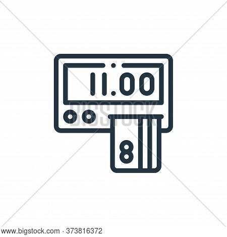 payment icon isolated on white background from taxi service collection. payment icon trendy and mode