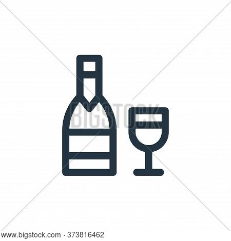 wine icon isolated on white background from gastronomy collection. wine icon trendy and modern wine