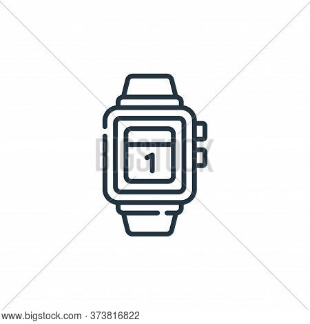 smartwatch icon isolated on white background from calendar and date collection. smartwatch icon tren