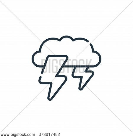 thunderstorm icon isolated on white background from climate change collection. thunderstorm icon tre
