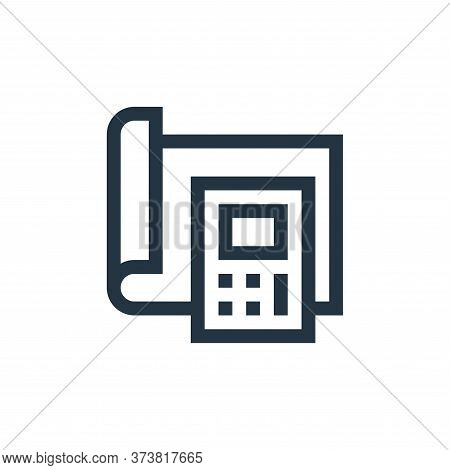 calculator icon isolated on white background from manufacturing collection. calculator icon trendy a