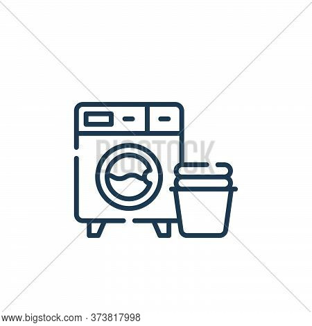 washing machine icon isolated on white background from hygiene routine collection. washing machine i