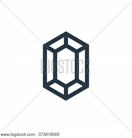 gem icon isolated on white background from video game elements collection. gem icon trendy and moder