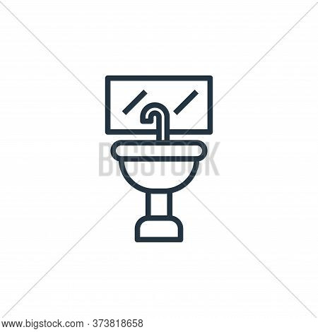 wash basin icon isolated on white background from laundry collection. wash basin icon trendy and mod