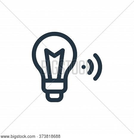 smart light icon isolated on white background from internet of things collection. smart light icon t