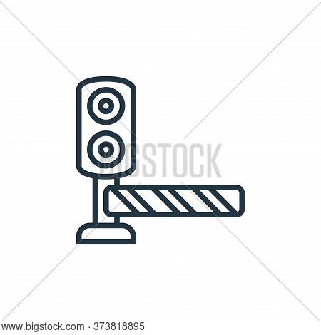 traffic barriers icon isolated on white background from railway collection. traffic barriers icon tr
