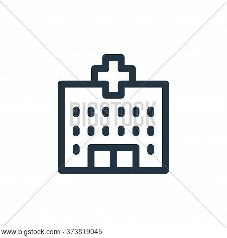 hospital icon isolated on white background from emergencies collection. hospital icon trendy and mod