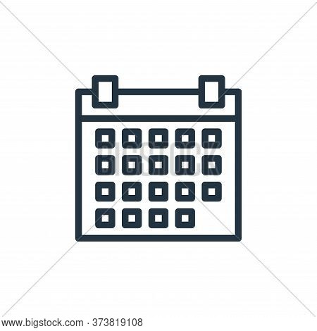 calendar icon isolated on white background from business collection. calendar icon trendy and modern