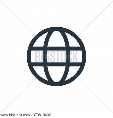 globe icon isolated on white background from user interface collection. globe icon trendy and modern