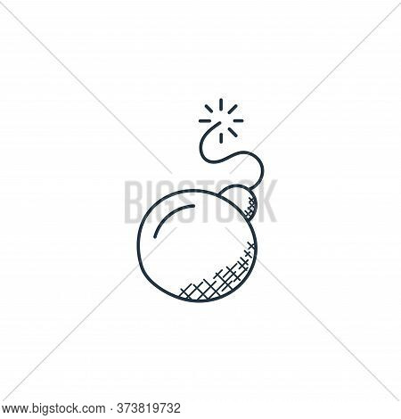 bomb icon isolated on white background from technology collection. bomb icon trendy and modern bomb