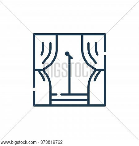 stage icon isolated on white background from fame collection. stage icon trendy and modern stage sym
