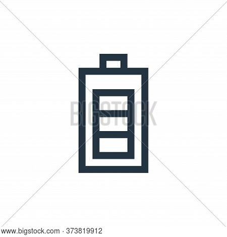 battery icon isolated on white background from web essentials collection. battery icon trendy and mo
