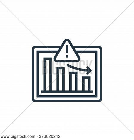 market icon isolated on white background from business risks collection. market icon trendy and mode