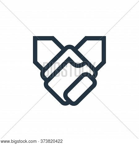 Holding Hands icon isolated on white background from mental health collection. Holding Hands icon tr