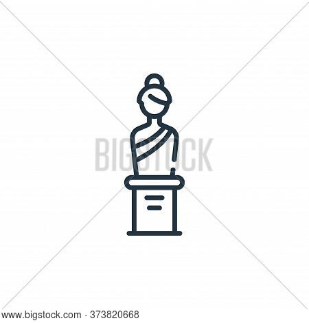 sculpture icon isolated on white background from fame collection. sculpture icon trendy and modern s