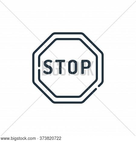 stop icon isolated on white background from signals and prohibitions collection. stop icon trendy an
