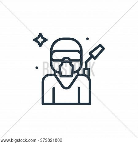 equipment icon isolated on white background from mass disinfection collection. equipment icon trendy