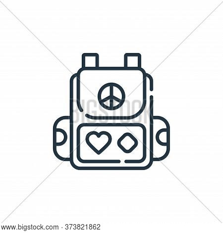 backpack icon isolated on white background from hippies collection. backpack icon trendy and modern