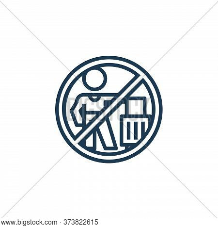 no travelling icon isolated on white background from pandemic collection. no travelling icon trendy