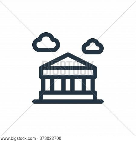 parthenon icon isolated on white background from europe collection. parthenon icon trendy and modern