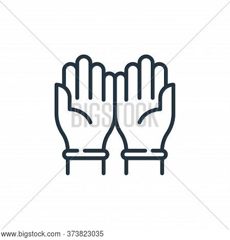 rubber gloves icon isolated on white background from virus transmission collection. rubber gloves ic