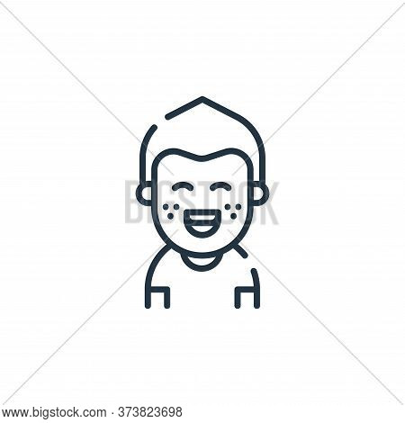 kid icon isolated on white background from dental care collection. kid icon trendy and modern kid sy