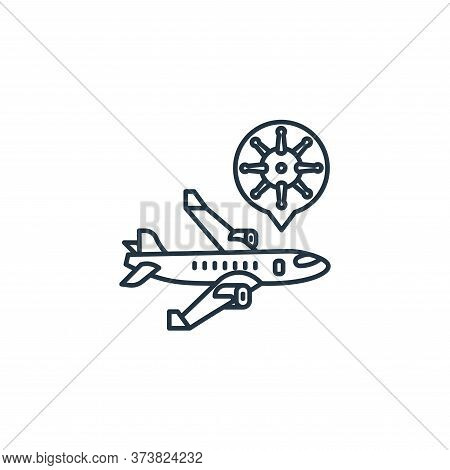 airplane icon isolated on white background from coronavirus collection. airplane icon trendy and mod
