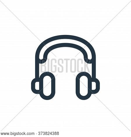 music player icon isolated on white background from communication and media collection. music player