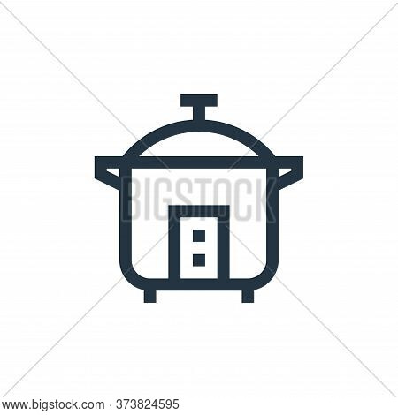 rice cooker icon isolated on white background from electronics collection. rice cooker icon trendy a