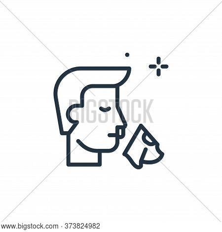 runny nose icon isolated on white background from coronavirus collection. runny nose icon trendy and