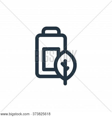 battery icon isolated on white background from mother earth day collection. battery icon trendy and