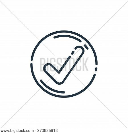 check icon isolated on white background from user interface collection. check icon trendy and modern