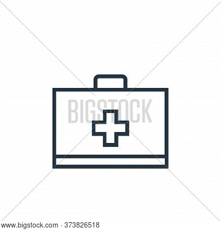 first aid kit icon isolated on white background from medical tools collection. first aid kit icon tr