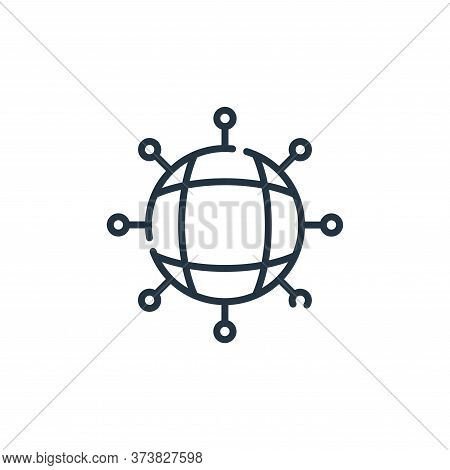 networking icon isolated on white background from web development collection. networking icon trendy
