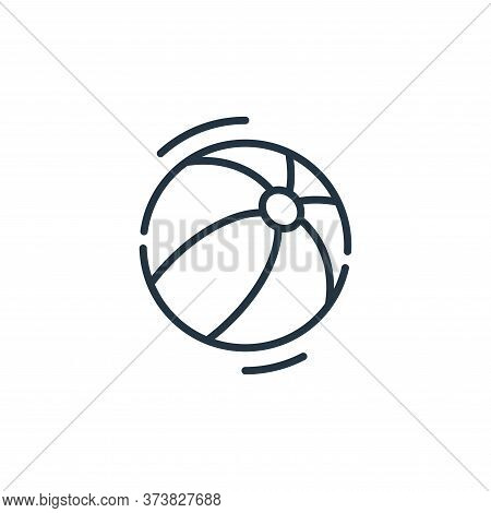 beach ball icon isolated on white background from circus collection. beach ball icon trendy and mode