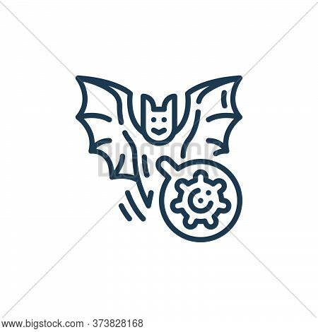 bat icon isolated on white background from virus transmission collection. bat icon trendy and modern