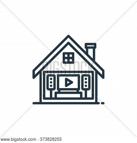 home theater icon isolated on white background from stay at home collection. home theater icon trend