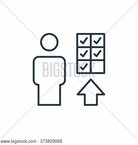 promotion icon isolated on white background from leadership collection. promotion icon trendy and mo