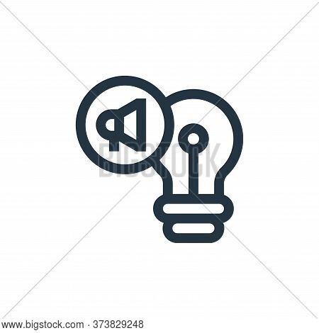 idea icon isolated on white background from advertisement collection. idea icon trendy and modern id