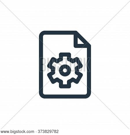 settings icon isolated on white background from document and files collection. settings icon trendy