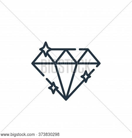 diamond icon isolated on white background from fame collection. diamond icon trendy and modern diamo